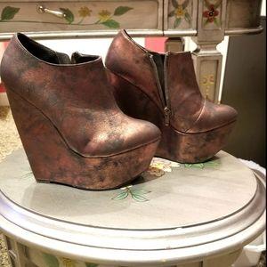 Unique platform/wedge shoes
